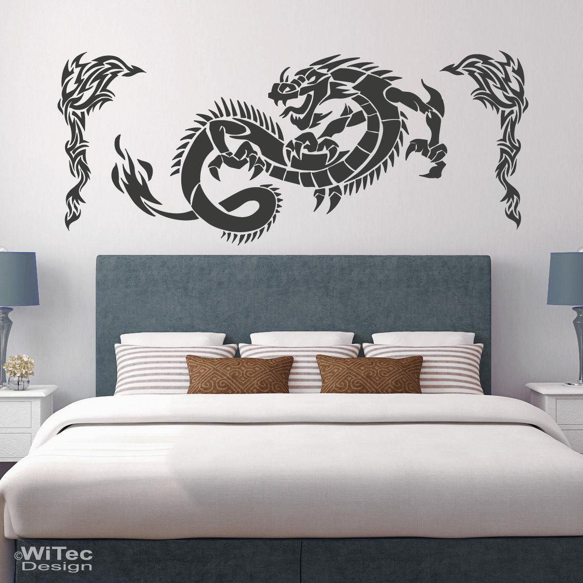 wandtattoo drache reuniecollegenoetsele. Black Bedroom Furniture Sets. Home Design Ideas