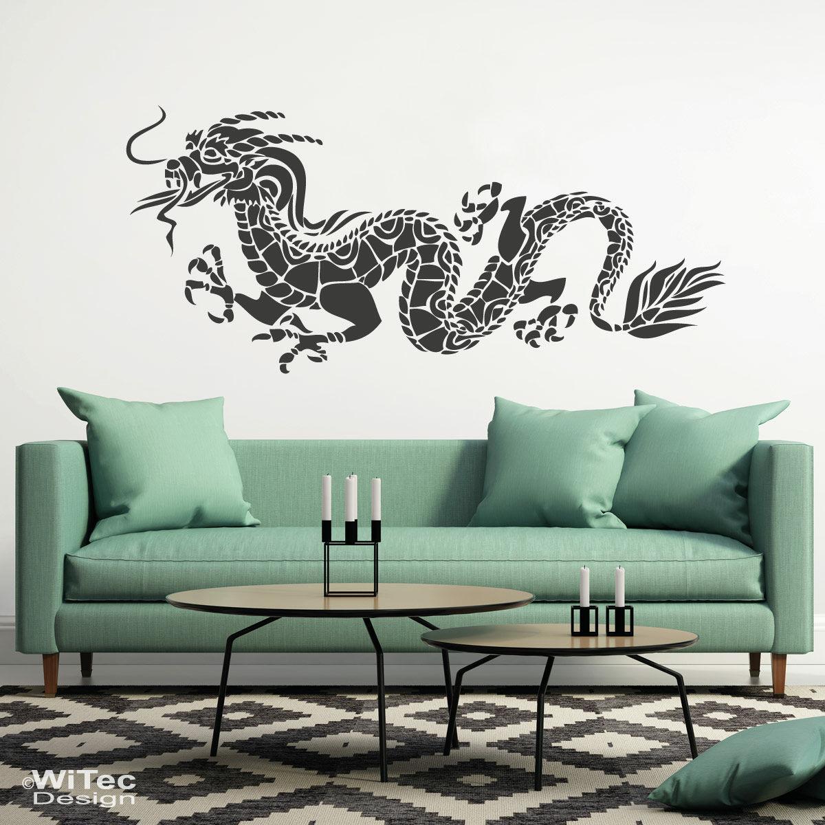 wandaufkleber drache aufkleber wandtattoo. Black Bedroom Furniture Sets. Home Design Ideas