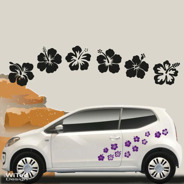 an033 hibiskus 42x hawaii blumen aufkleber 6 motive. Black Bedroom Furniture Sets. Home Design Ideas