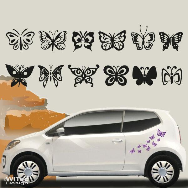 An031 Schmetterling Butterfly 22 Stk Aufkleber Auto Hawaii