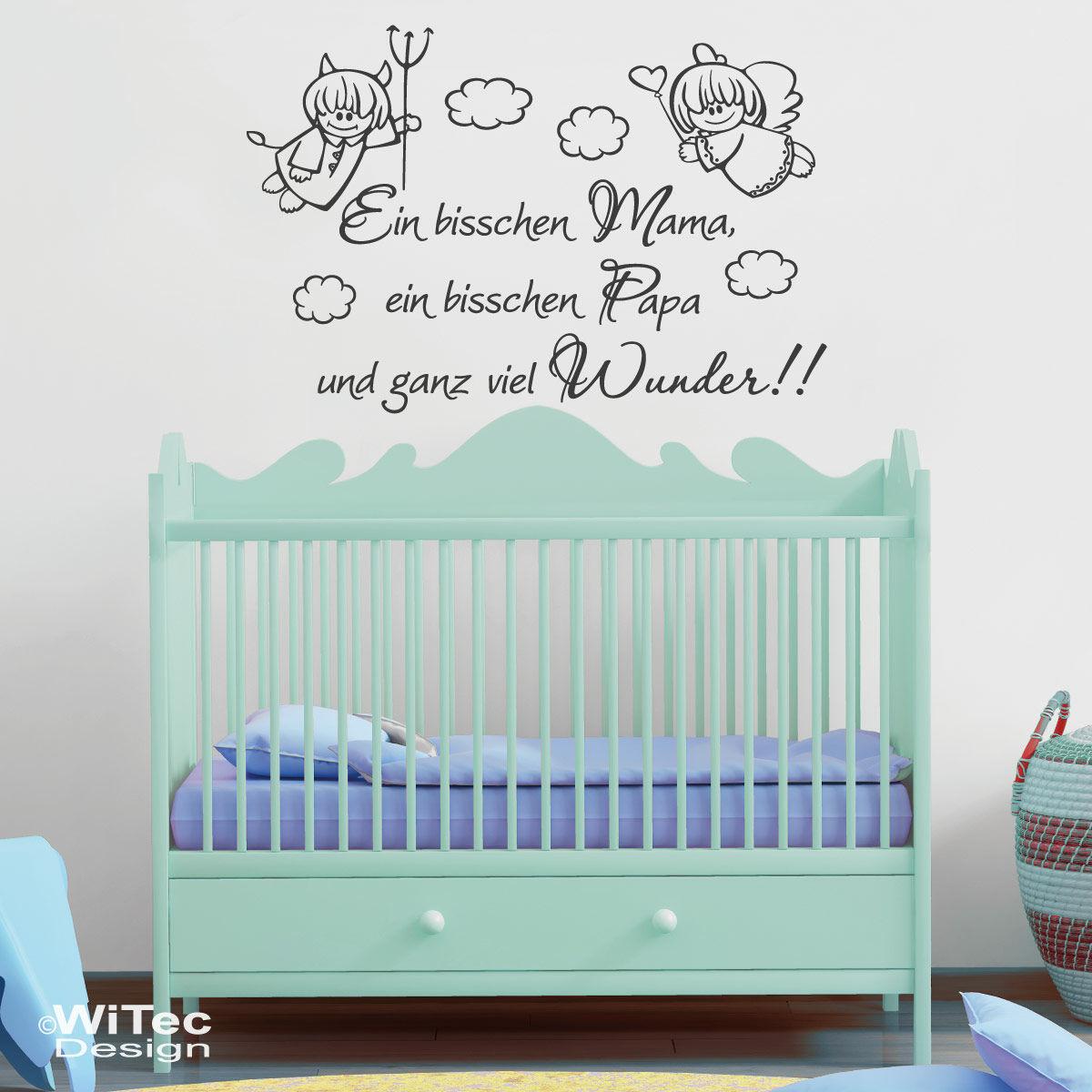 Wandtattoo Kinderzimmer Mama Papa Wunder Baby Aufkleber