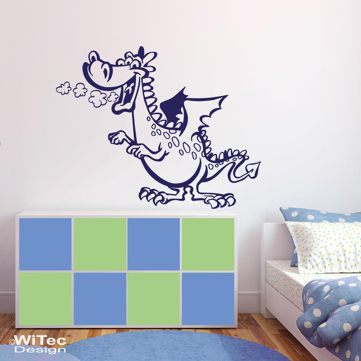 wn271 wandaufkleber drache wandtattoo kinderzimmer. Black Bedroom Furniture Sets. Home Design Ideas
