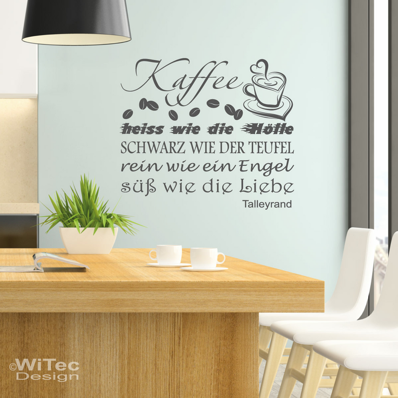 wn253 wandaufkleber der kaffee wandtattoo coffee k che. Black Bedroom Furniture Sets. Home Design Ideas