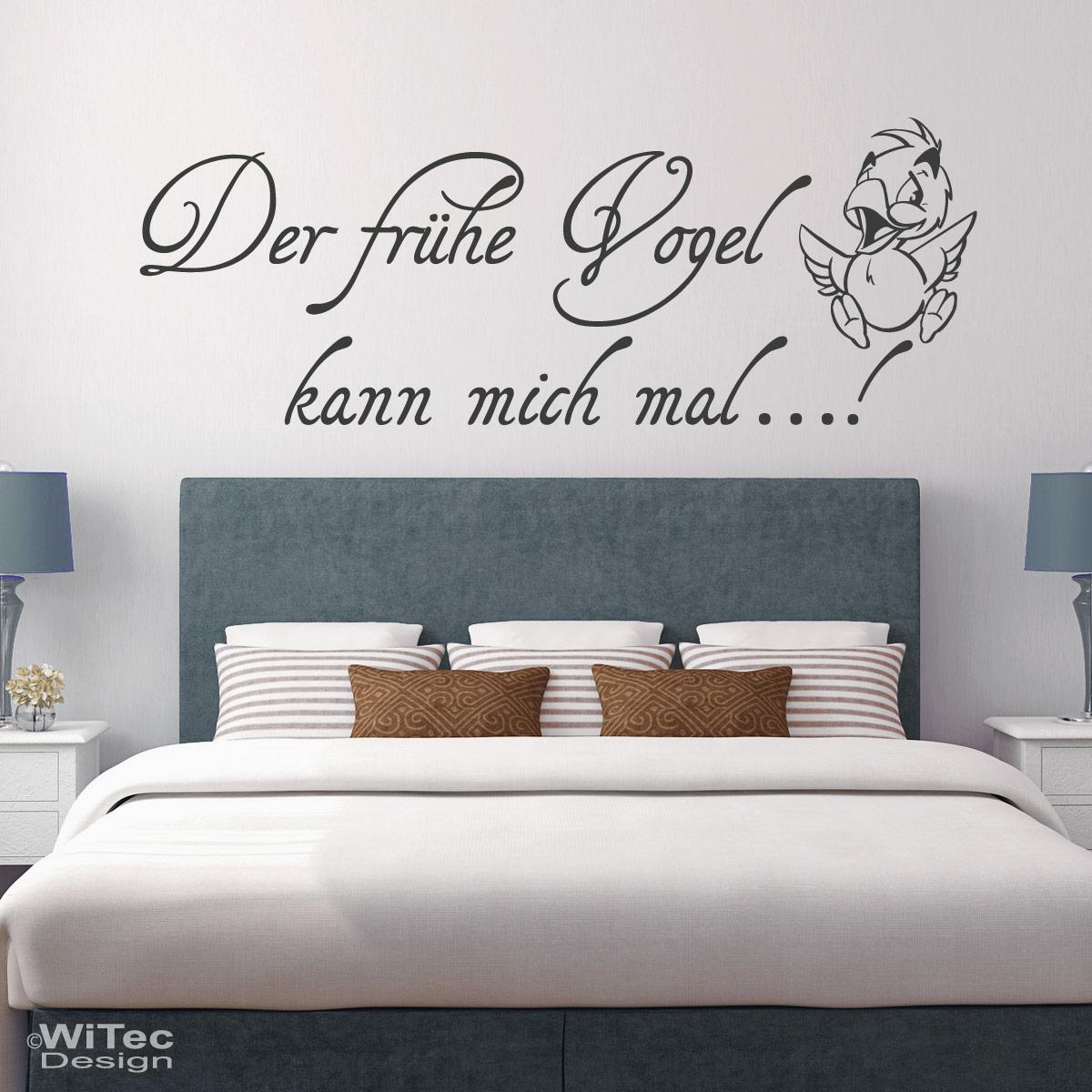 Wandtattoo Schlafzimmer Der Fruhe Vogel Kann Mich Mal Wandtatto