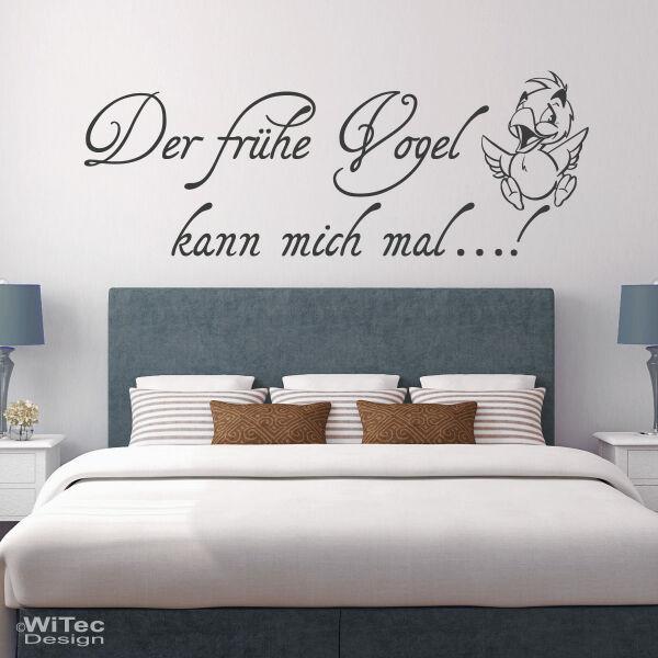 Wandtattoo Schlafzimmer Der Frühe Vogel Kann Mich Mal - Wandtatoos schlafzimmer