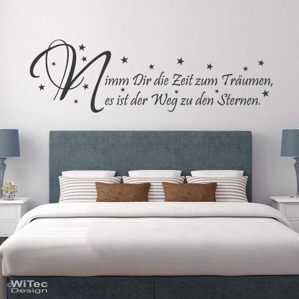 Wandtattoo Schlafzimmer Zeit zum Träumen...