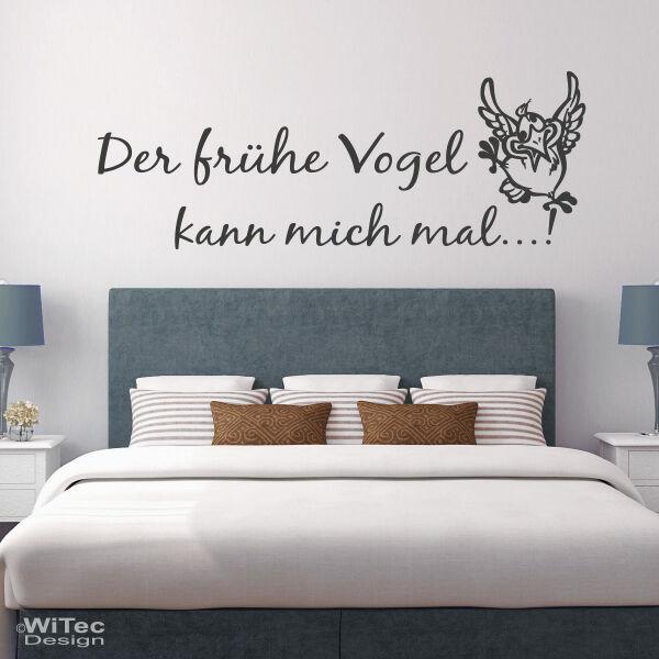 Wandaufkleber Schlafzimmer Der frühe Vogel kann mich mal...!