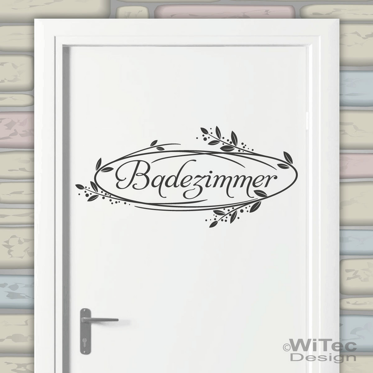 Tür Aufkleber Badezimmer Ranke Wandtattoo