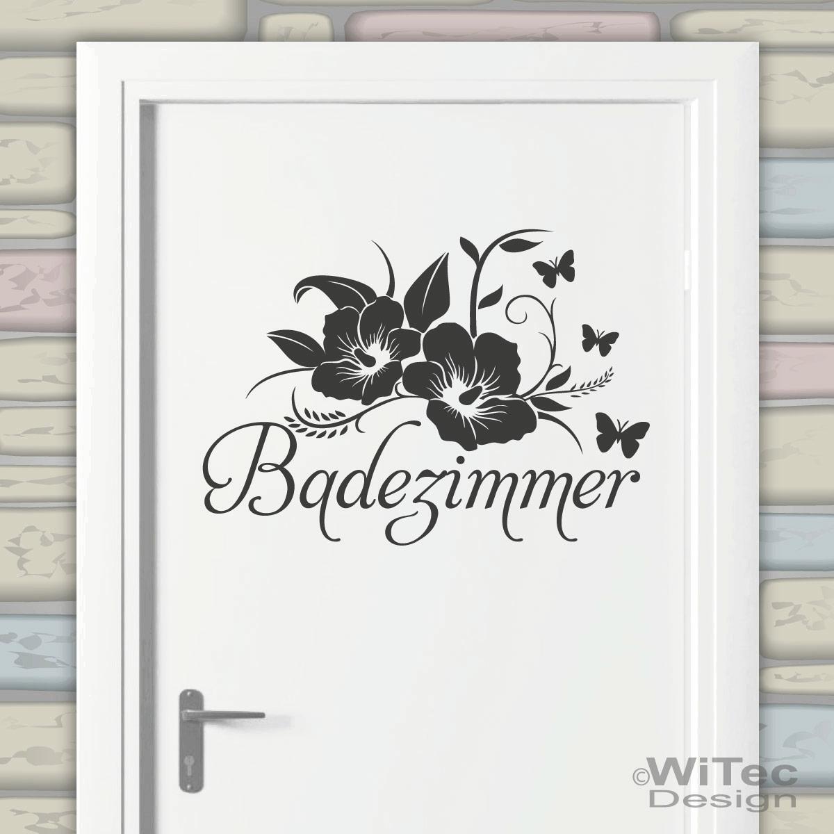 Türaufkleber Tür Aufkleber Badezimmer Hibiskus Blumen