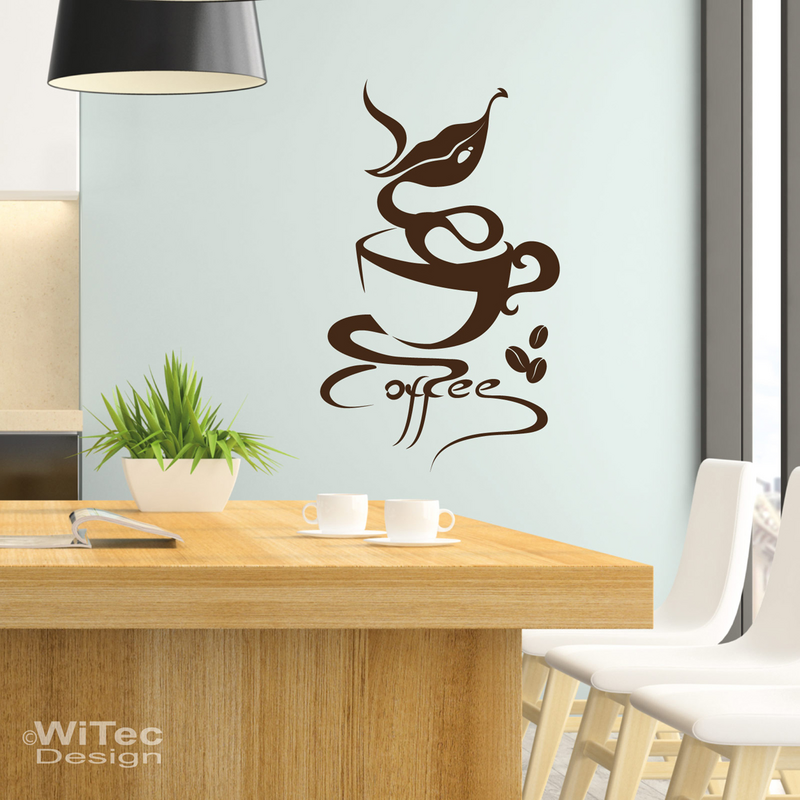 wandaufkleber coffee kaffee wandtattoo lounge k che. Black Bedroom Furniture Sets. Home Design Ideas