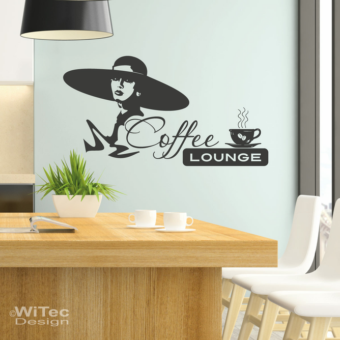 wandaufkleber wandtattoo coffee lounge kaffee bistro k che. Black Bedroom Furniture Sets. Home Design Ideas