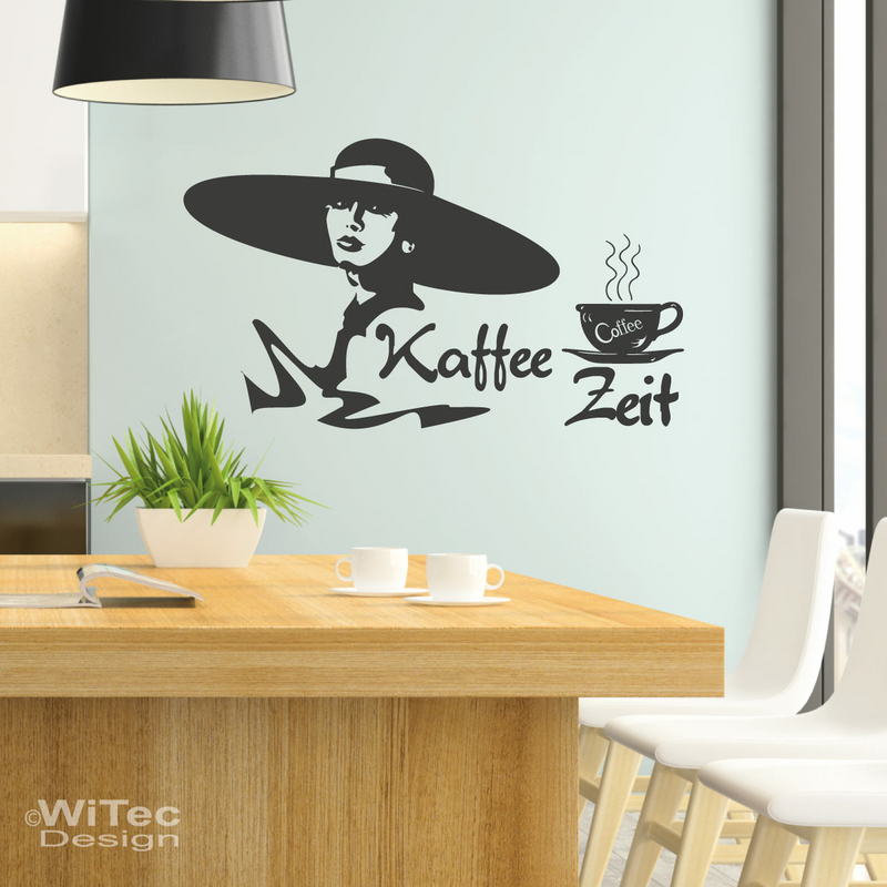 wandaufkleber kaffee zeit wandtattoo k che kaffee lounge. Black Bedroom Furniture Sets. Home Design Ideas