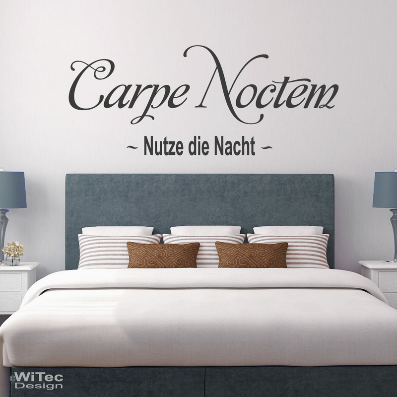wandtattoo carpe noctem wandaufkleber nutze die nacht. Black Bedroom Furniture Sets. Home Design Ideas