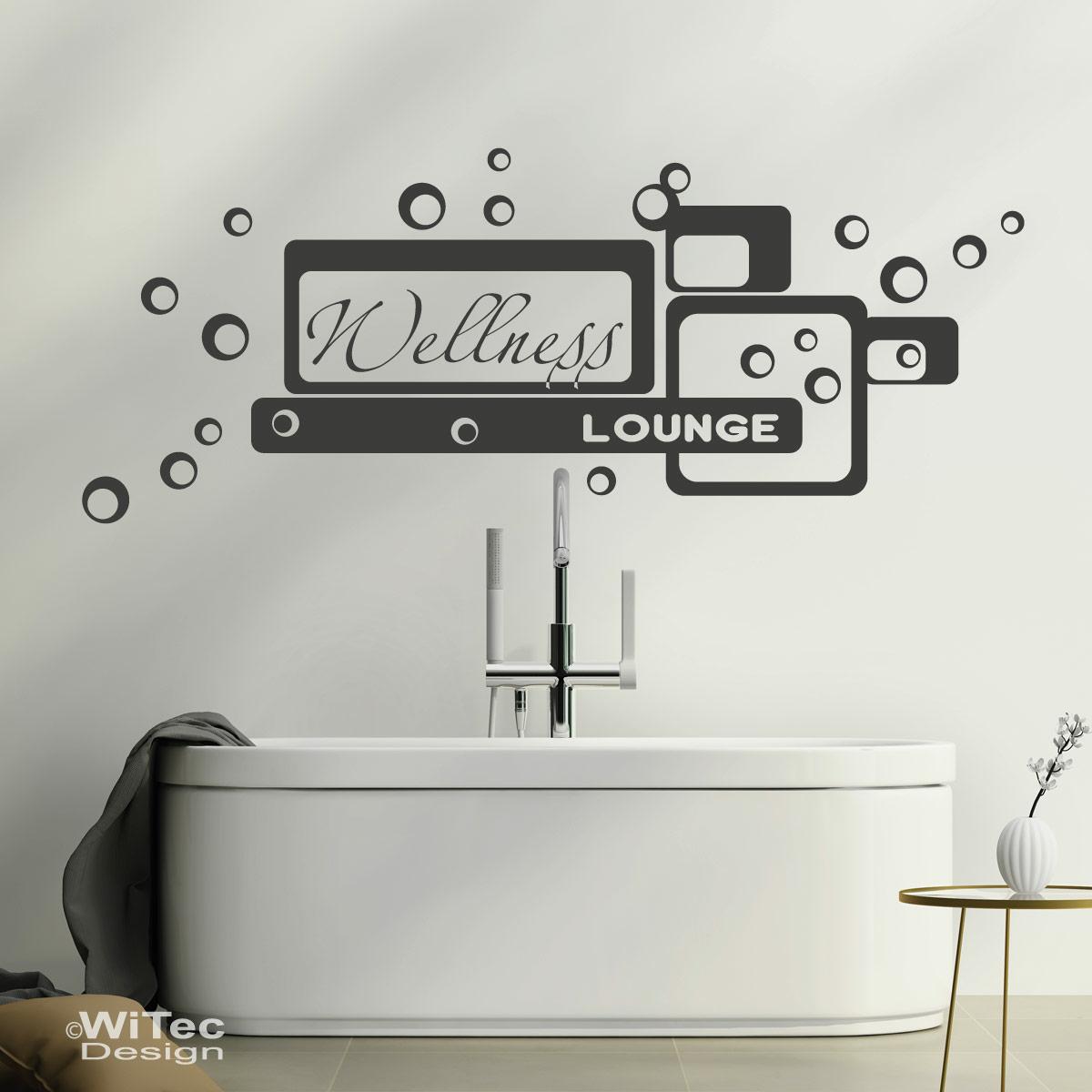 wandtattoo wellness lounge wandaufkleber badezimmer. Black Bedroom Furniture Sets. Home Design Ideas
