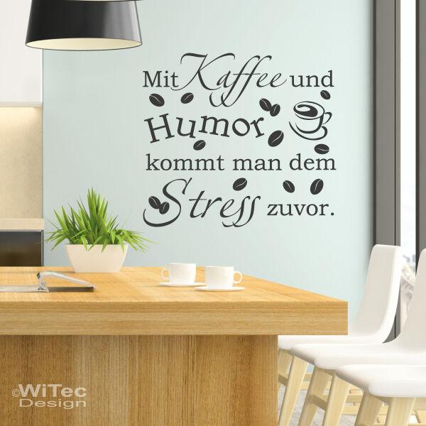 Kaffee Wandtattoo Küche Büro Lounge Wandaufkleber