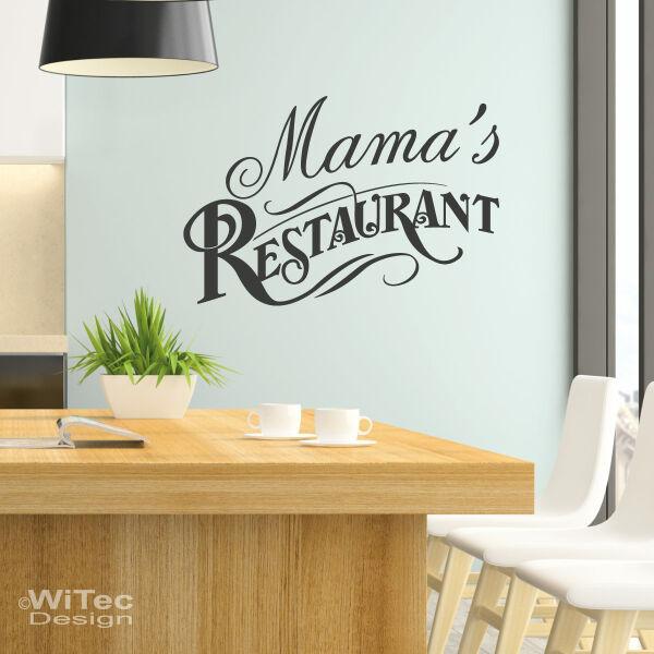 Mamas Restaurant Wandtattoo Küche Wandaufkleber