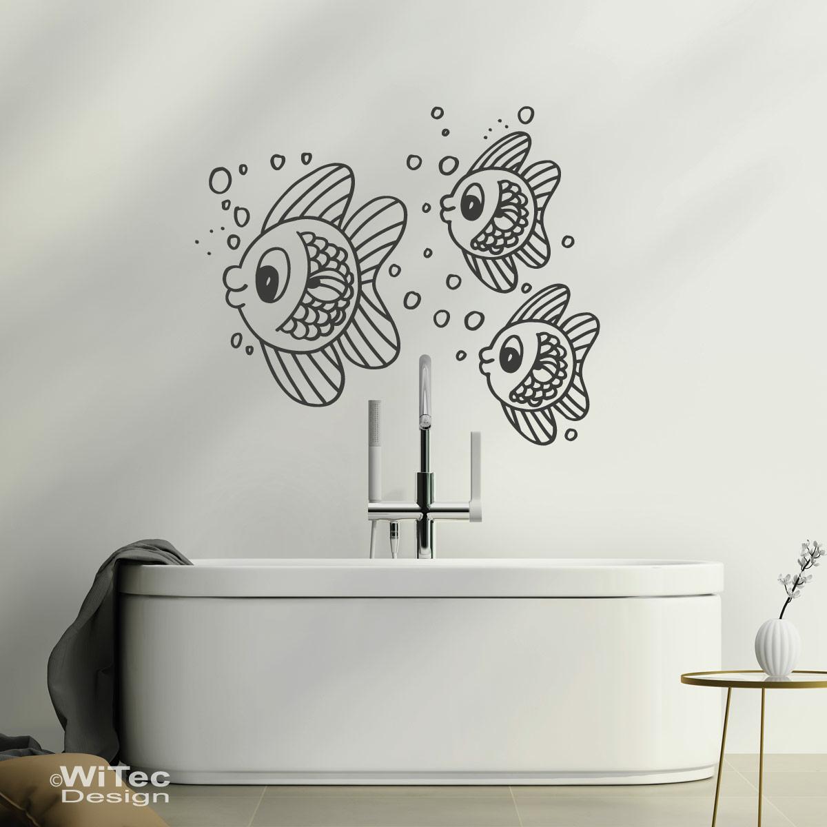 fischschwarm wandtattoo fische wandaufkleber badezimmer. Black Bedroom Furniture Sets. Home Design Ideas