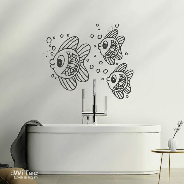 Fischschwarm Wandtattoo Fische Wandaufkleber Badezimmer
