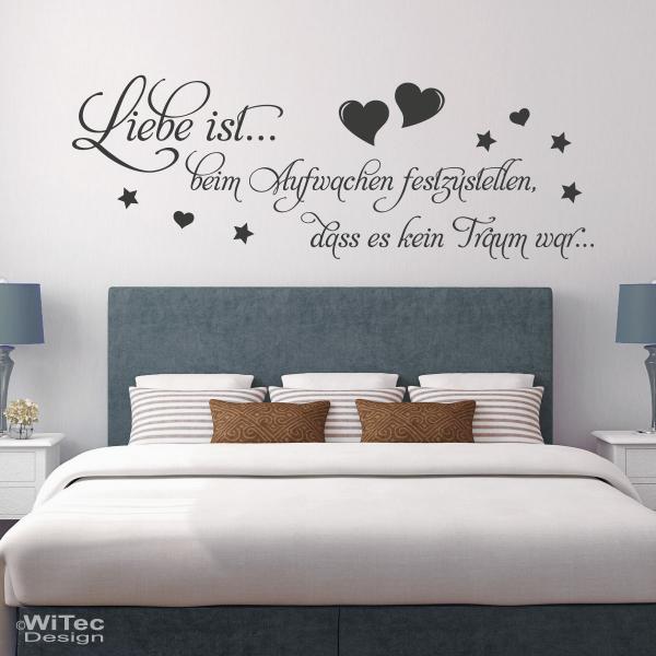 wandtattoo liebe ist wandaufkleber herzen sterne. Black Bedroom Furniture Sets. Home Design Ideas