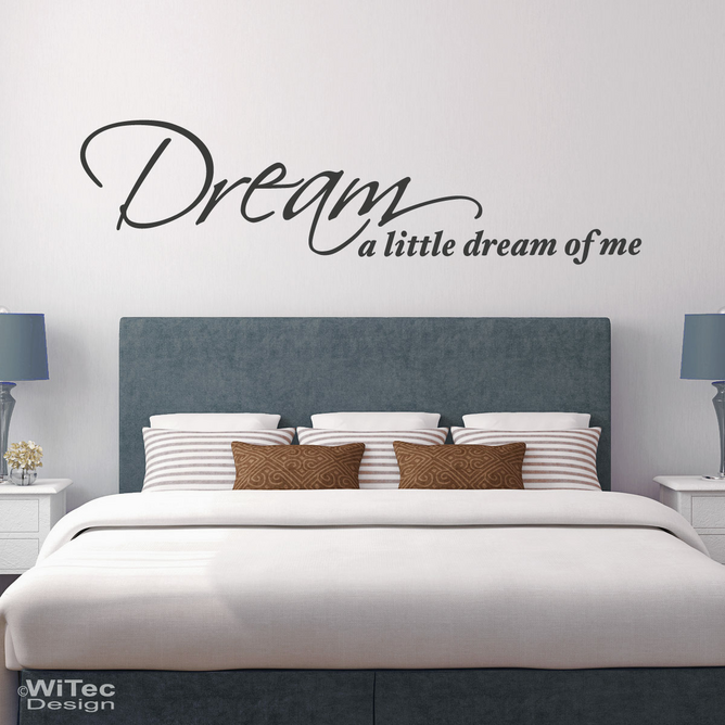 Wandtattoo Dream a little dream Wandaufkleber Traum