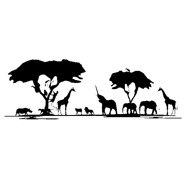 Wandtattoo afrika safari wandaufkleber giraffe l we elefant - Wandtattoos afrika style ...