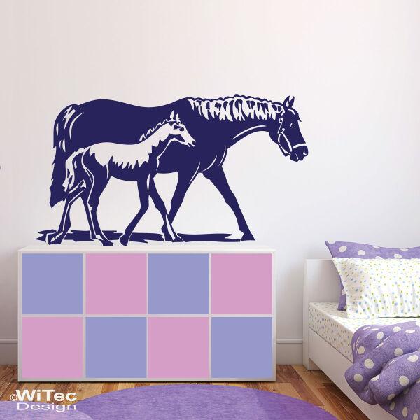 Wandtattoo Pferd Fohlen Wandaufkleber Pferde Kinderzimmer