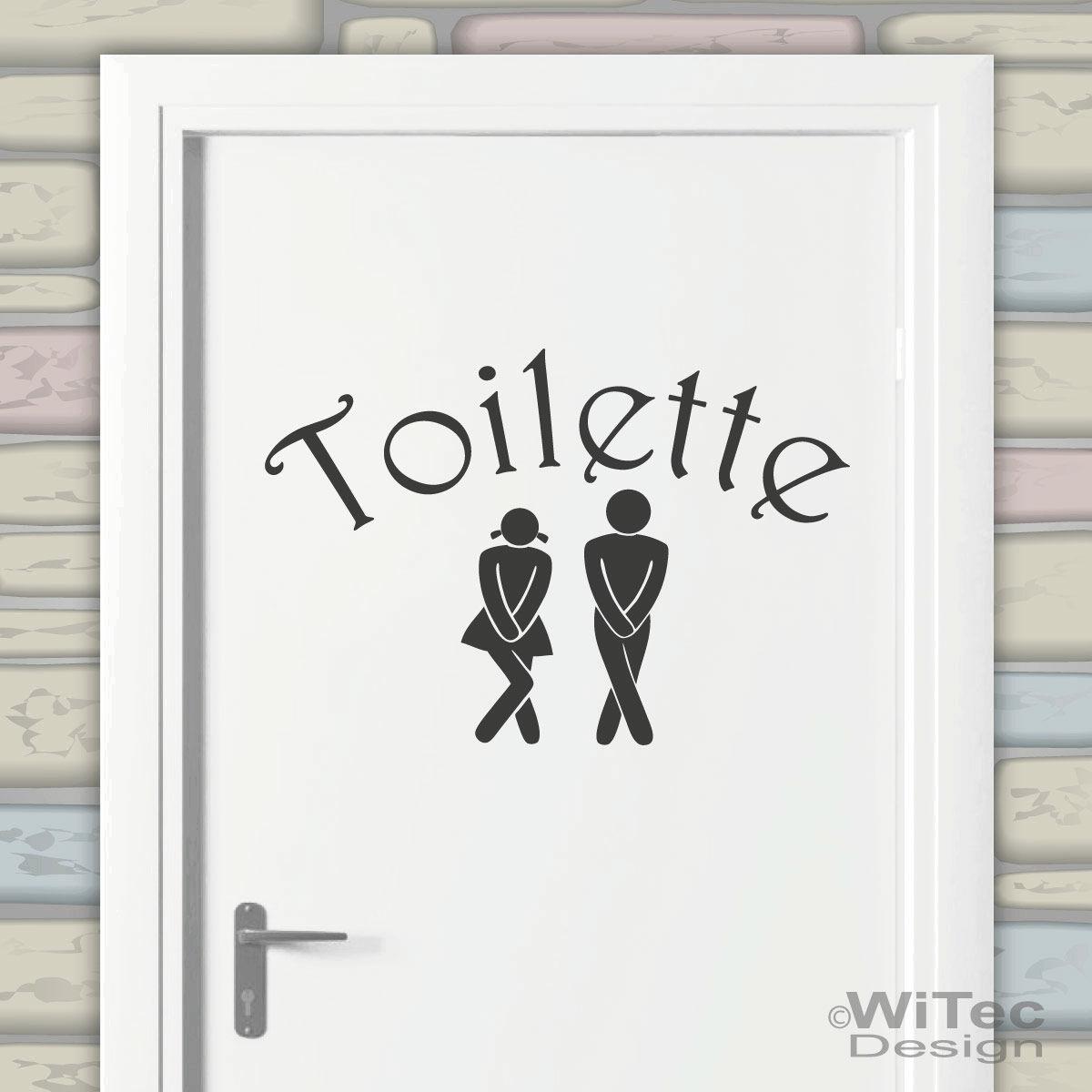 Toilette Tür Aufkleber WC Badezimmer