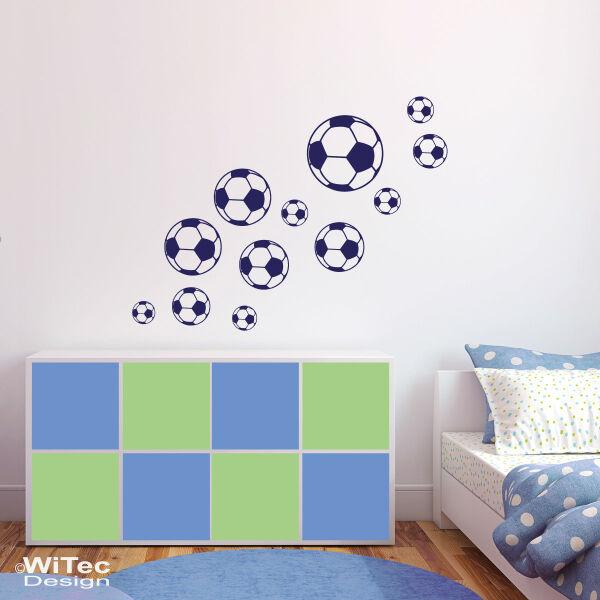 Wandtattoo Fussball Wandaufkleber Fussball Sticker Set