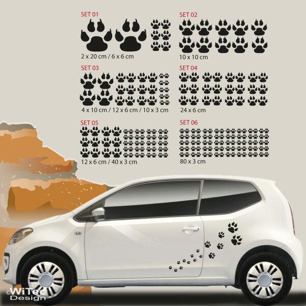 Hundeaufkleber Pfoten Hundepfoten Autoaufkleber Aufkleber