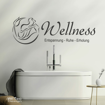 Wandaufkleber WELLNESS Badezimmer Bad