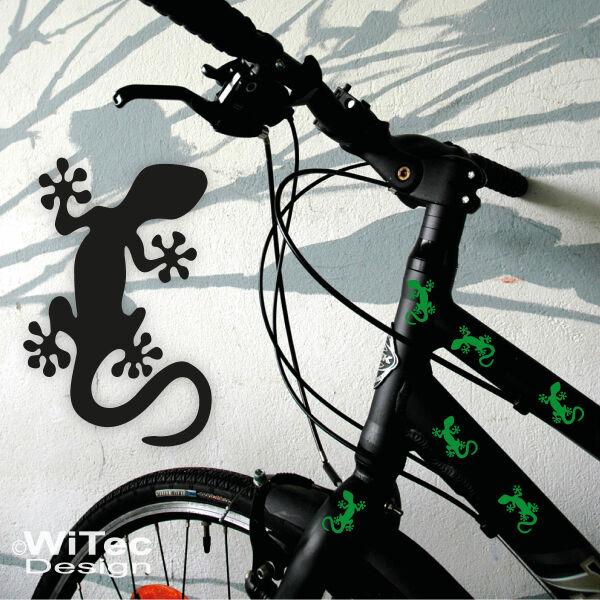 Gekko Gecko Echse Aufkleber Fahrrad Sticker Roller