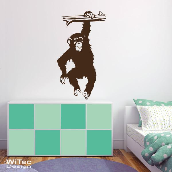wandtattoo schimpanse affe wandsticker afrika. Black Bedroom Furniture Sets. Home Design Ideas