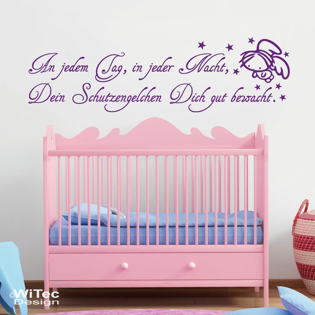 Wandaufkleber Schutzengel Baby Aufkleber Wandspruch