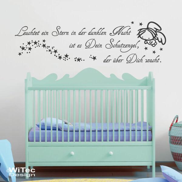 Wandtattoo SCHUTZENGEL Engel Aufkleber Kinderzimmer