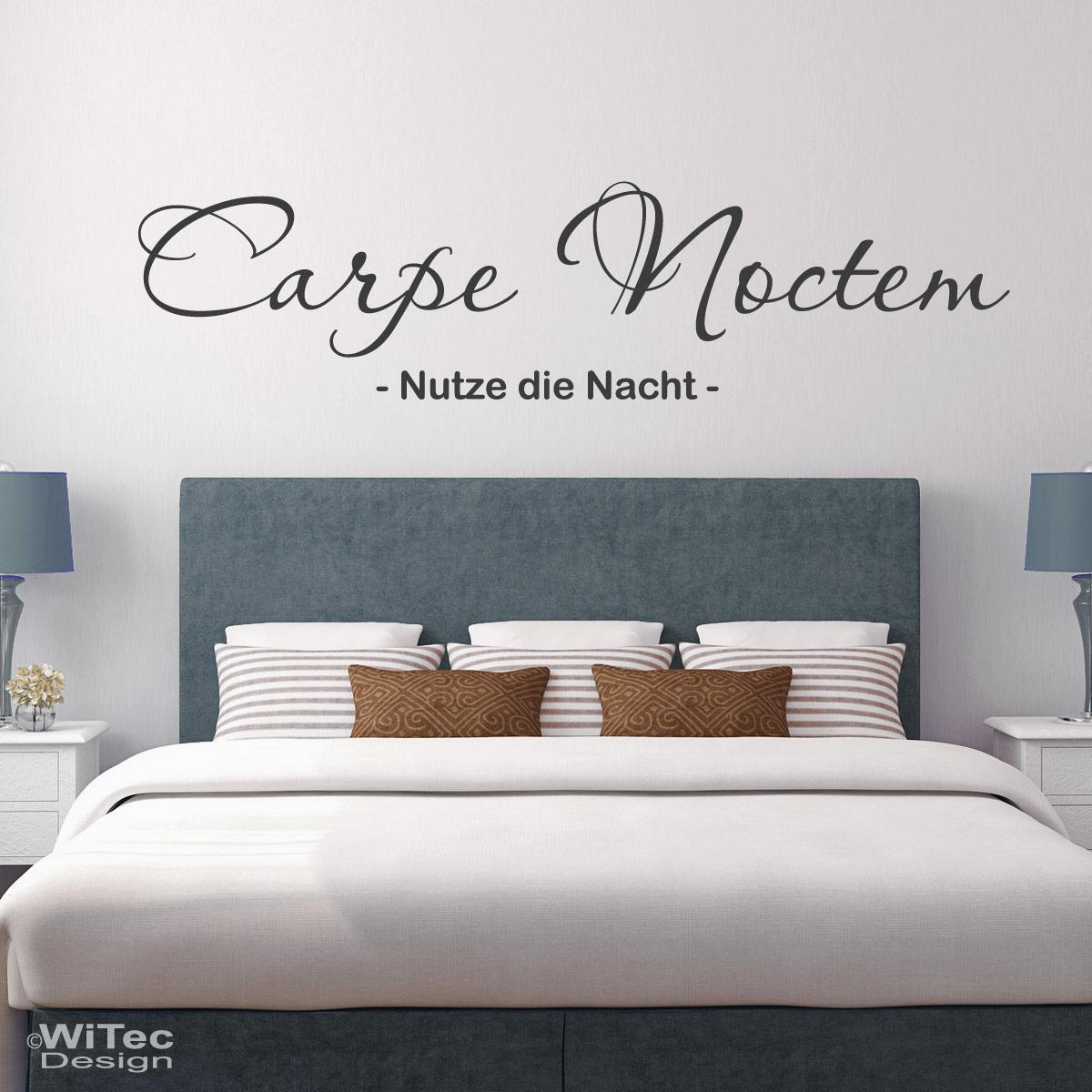 Wandtattoo Carpe Noctem : wandtattoo carpe noctem nutze die nacht ~ Sanjose-hotels-ca.com Haus und Dekorationen