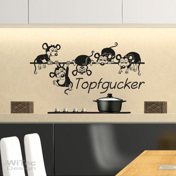 Wandtattoo Topfgucker Mäuse Küche Wandaufkleber