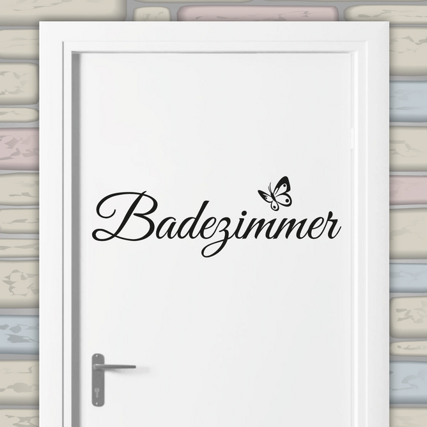 Türaufkleber Badezimmer Schmetterling Tür Aufkleber
